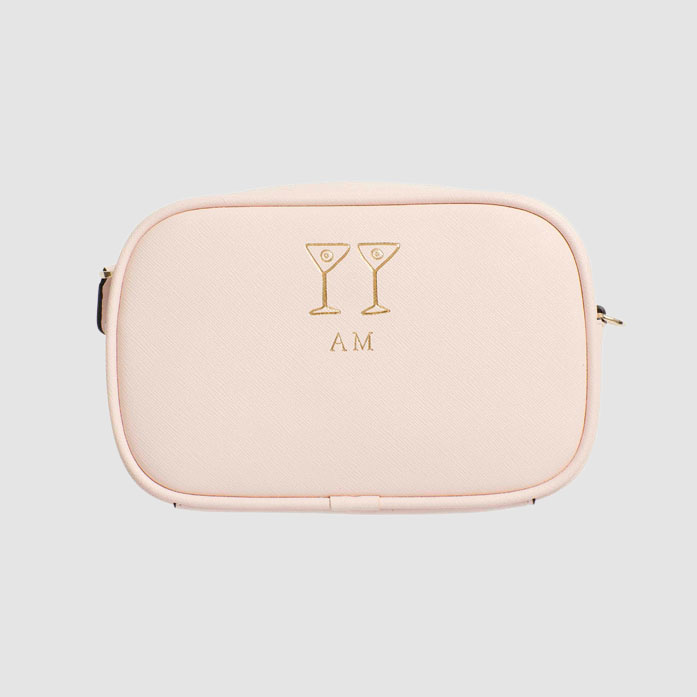 Cocktail Hour Pale Pink Mini Cross Body Bag