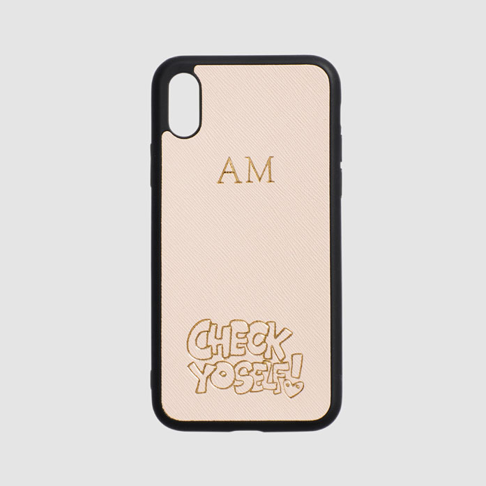 Check Yoself Pale Pink iPhone Case