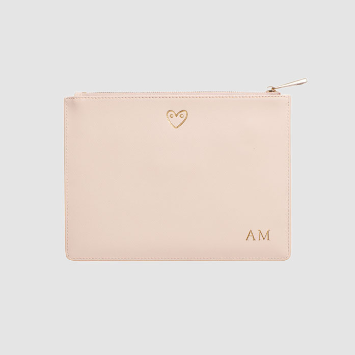 Heart Pale Pink Pouch